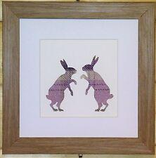 Scottsh Art Boxe lièvres photo avec Lilas Tweed comme tissu