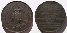 CATALUÑA , MEDALLA PASCUAL MADOZ DE 1854 , ESCASA . 119,7 gramos/61 mm