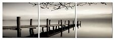 3 Panels Black And White Landscape Giclee Canvas Prints On Wall Picture Art Deco