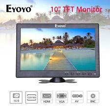 "10"" Inch Monitor BNC, AV, VGA, HDMI Video Input + Speaker for CCTV DVD Security"