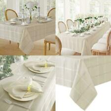 60 x 120 Long Beige Dining Room Table Fabric Tablecloth Cover New FREE Ship
