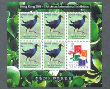 Norfolk island-Tarler Bird min sheet mnh 2001 Hong Kong 2001