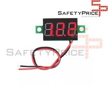 Mini Voltimetro 2,5 -32v DC  2 hilos Display Digital ROJO 0,36 Arduino DIY SP