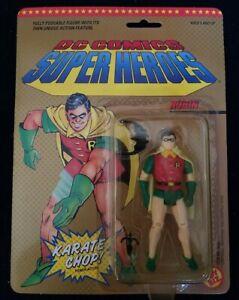 1989 Robin Karate Chop Power Action Figure DC Comics Super Heroes Toybiz New