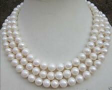 """50"""" HUGE AAA 9-10MM SOUTH SEA PERFECT ROUND WHITE PEARL NECKLACE 14K GOLD CLASP"""