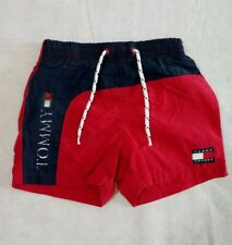 Vintage Tommy Hilfiger Infant Kid's Big Spellout Swim Trunks Shorts 3/6 Months