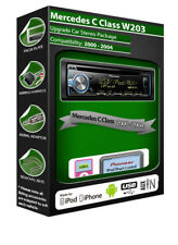 Mercedes C-Class CD player, Pioneer headunit plays iPod iPhone Android USB AUX