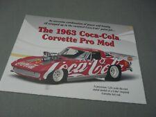 BROCHURE ONLY(NO CAR)-1/24-DANBURY MINT-1963 COCA-COLA CHEVY CORVETTE PRO MOD