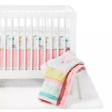 Crib Bedding Set Forest Frolic 4pc - Cloud Island Pink, Pink Multicolored