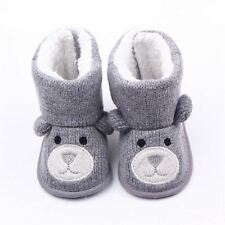 Baby Winter Boots Infant Toddler Newborn Cute Cartoon Bear Shoes Girls Boys Firs