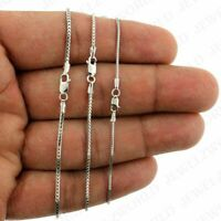 "Real 10K Solid White Gold Franco Chain Necklace 1.0mm, 1.2mm Or 1.5mm 16"" - 26"""