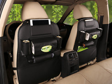 Car Black Seat Back Multi-Pocket Leather Storage Bag Organizer Holder Accessory
