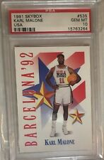 PSA 10 KARL MALONE 1991-92 SKYBOX OLYMPIC USA DREAM TEAM #535 JAZZ GEM MINT RARE