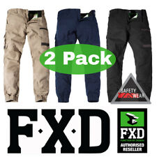2x FXD WP-4 Cuffed Pants Workwear Trousers Regular Fit Stretch Khaki Navy Black