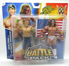 "Mattel WWE John Cena & Ultimate Warrior Basic 6"" Action Figure Battle Pack New i"