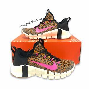Nike Free Metcon 3 Women's Leopard Print/Pink Blast/Sail Size 7 New CJ6314-096