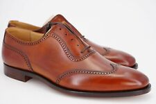 NEW | $698 CROCKETT & JONES 9 D UK 8 BALMORAL WING TIP OXFORD CHESTNUT BROWN