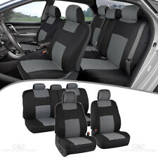 Car Seat Covers Sports Design Poly Pro Seat Protection W/ Split Bench Tech Gray