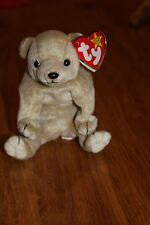 Genuine ty Beanie Baby - Almond the Bear   Great value collectable soft toy
