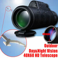 Hot New 40X60 HD Mini 40X Monocular Telescope BAK4 Scope+Phone Clip Tripod