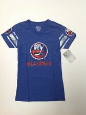 New York Islanders distressed Girls official Nhl Large (14) T-shirt New W Tags