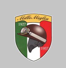 Mille Miglia 1927-1957 Decal Sticker Insignia Tanque Carenado Coche Clásico Carrera De Rally