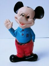 New listing Vintage Mickey Mouse Waving Squeak Toy Squeeze Rubber