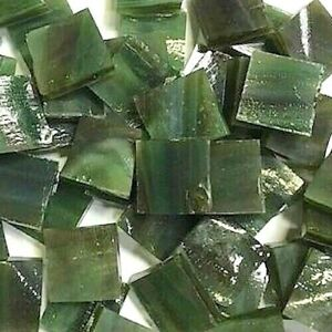 "1/2"" DARK GREEN Stained Glass Mosaic Tiles (100 PIECES)"