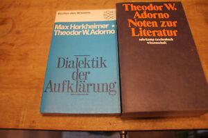 Th.W. Adorno- Noten zur Literatur / Horkheimer-Adorno - Dialektik der Aufklärung