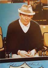 Eddie Constantine  _ Original Autogramm / Karte drucksigniert ! _ 10 cm x 15 cm