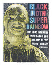 BLACK MOTH SUPER RAINBOW  CHICAGO RARE SILKSCREEN GIG POSTER S/N ED