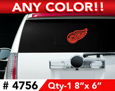 """DETROIT RED WINGS LOGO LARGE DECAL STICKER 8"""" x 6"""" Any 1 Color"""