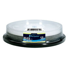 10 Optical Quantum 6x 50GB BD-R DL Double Layer Logo Blu-ray Disc OQBDRDL06LT-10