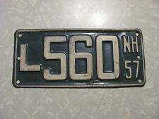 1957  NEW HAMPSHIRE LICENSE PLATE  FREE SHIPPING #L560