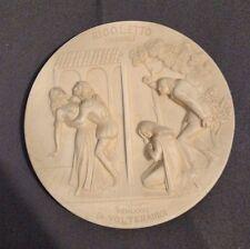 Gino Ruggeri Rigoletto Bisque Plate MDCCCLI Di Volteradici Ivory Alabaster