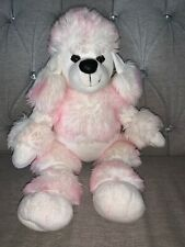 "Build A Bear White & Pink 19"" Soft Plush French Poodle Dog Puppy"