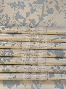 Laura Ashley Oriental Garden Duck Egg Wallpaper Price Per Roll Rare