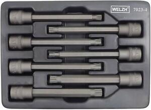 Welzh Werkzeug 3/8 Extra Long Spline Bit Socket Set  110mm M4-M10 S2 STEEL