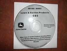 JOHN DEERE CHAINSAW SNOWBLOWER GENERATOR TECHNICAL SERVICE SHOP REPAIR MANUAL CD