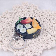 New Simulation Sushi Key Chain Ring Keyring Pendant Purse Keychain