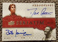 Bob Lanier Dave Cowens Dual Autograph 46/70 UD Chronology Signed CELTICS PISTONS