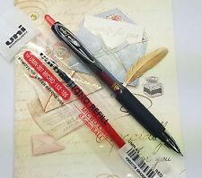 5pens + 3 refills uni-ball signo 207MICRO ball pen & UMR-85 refill RED ink