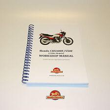 HONDA CBX400F CBX550F ORIGINALE OFFICINA SHOP manuale libro RIPRODUZIONE hwm048