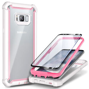 For Samsung Galaxy S8 / S8 Plus Case Full-Body Hybrid Cover + Screen Protector