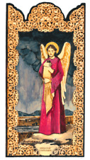 ANGEL COMPASSION WRAP CHILD OF GOD IN LOVE HANDCRAFTED WOOD POCKET RETABLO -A11