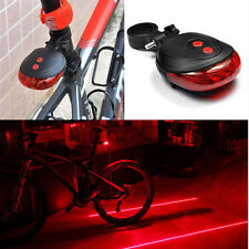 2 Laser+5 LED Flashing Lamp Tail Light Rear Bicycle Safety Warning Red Hot Sale