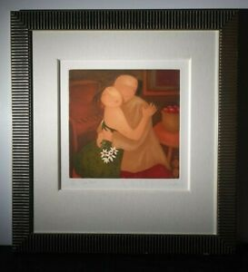 "LISTED MALAYSIAN ENG TAY Sd ORIG LE ETCHING ROMANTIC FIGURAL ""SAFE HAVEN II"""