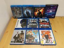 job lot 10 blu-ray films dvd - dark knight, avatar, transformers etc