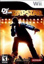 NEW Def Jam Rapstar Nintendo Wii Game DJ rapster Karaoke rap star music *sealed*