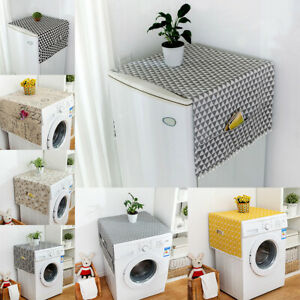 Accessories Washable Case Floral Dustproof Washing Machine Cover With Pockets